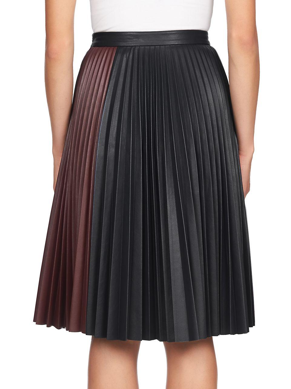 Lyst 1 state faux leather midi skirt in black for Define faux leather
