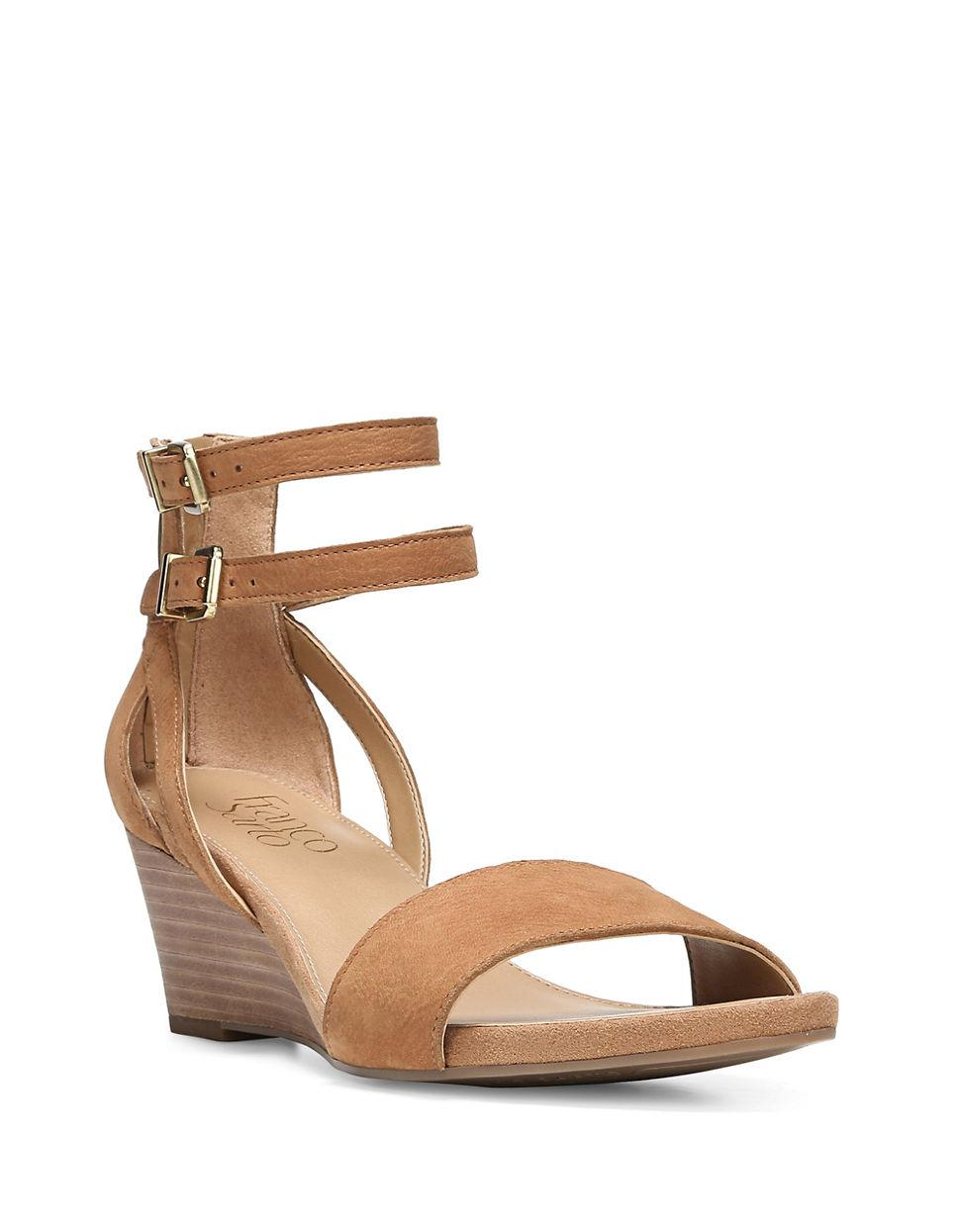 Lyst Franco Sarto Danissa Leather Ankle Strap Sandals In