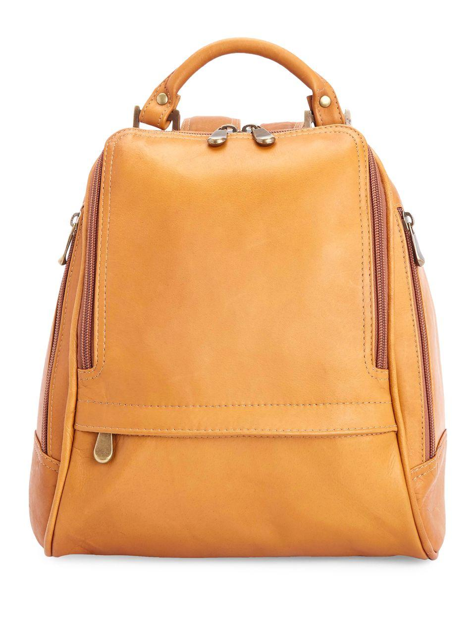 royce new york sling backpack in natural lyst. Black Bedroom Furniture Sets. Home Design Ideas