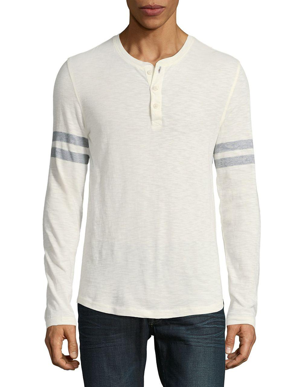 Lyst James Perse Long Sleeve Henley Tee For Men