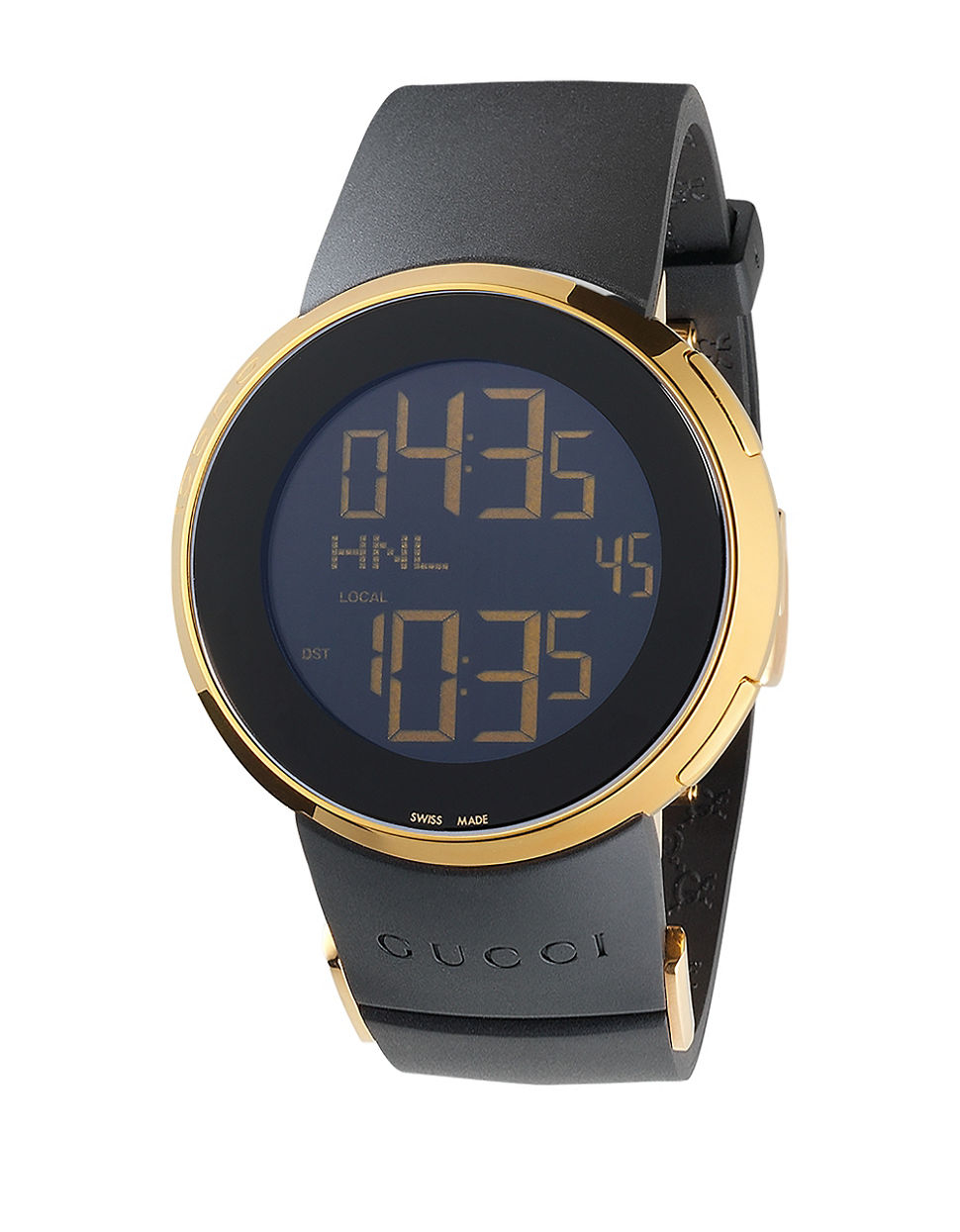 Gucci Swiss Made Digital Tm 501 Leather Strap Watch in ...