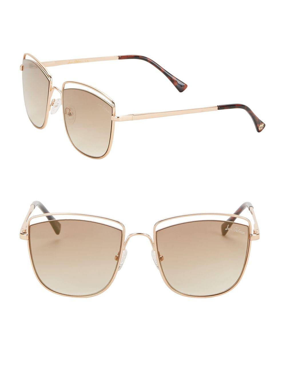 a1ffe723310 Lyst - Sam Edelman 60mm Cat Eye Sunglasses in Metallic