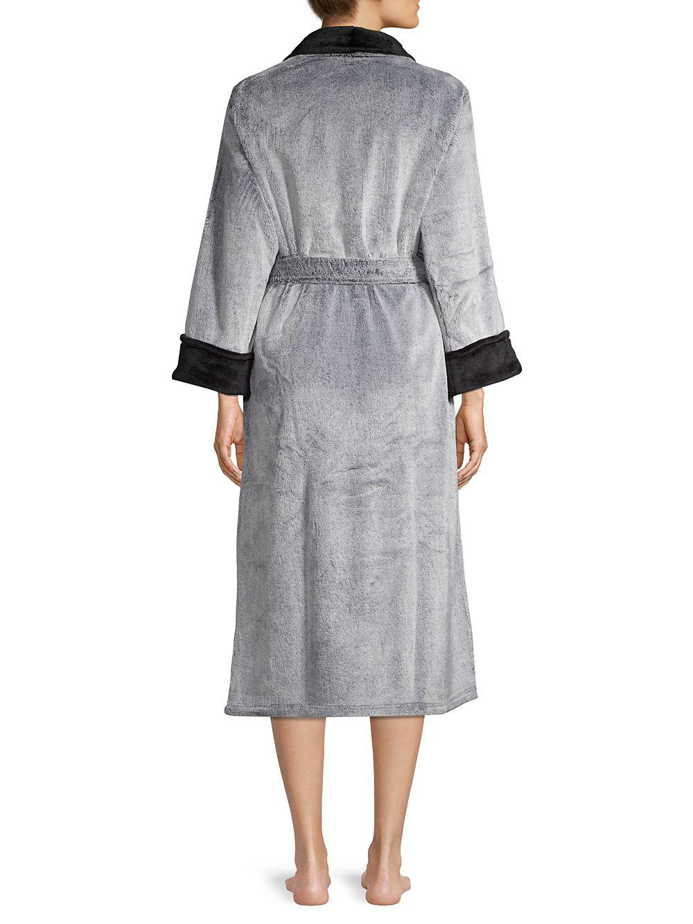 0277af7cea N Natori - Gray Frosted Fleece Robe - Lyst. View fullscreen