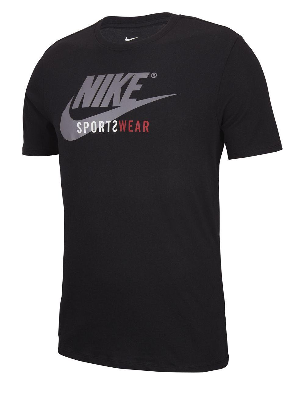 5c31ccddc24d Nike Swoosh Logo Graphic Tee in Black for Men - Lyst