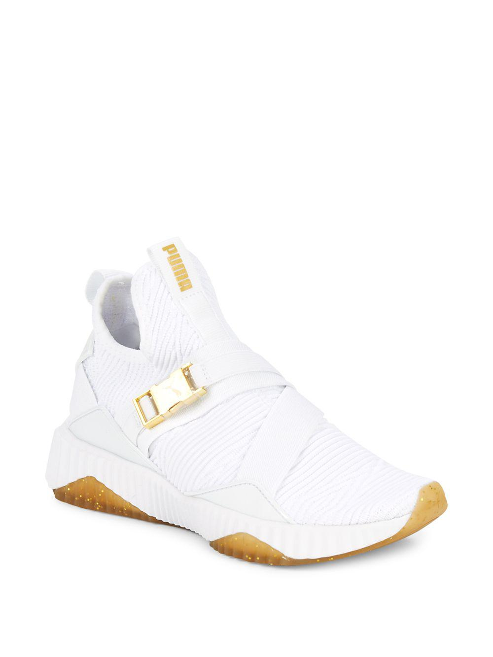 f9cfb0c5c88e41 Puma Defy Mid-top Sneakers in White - Lyst