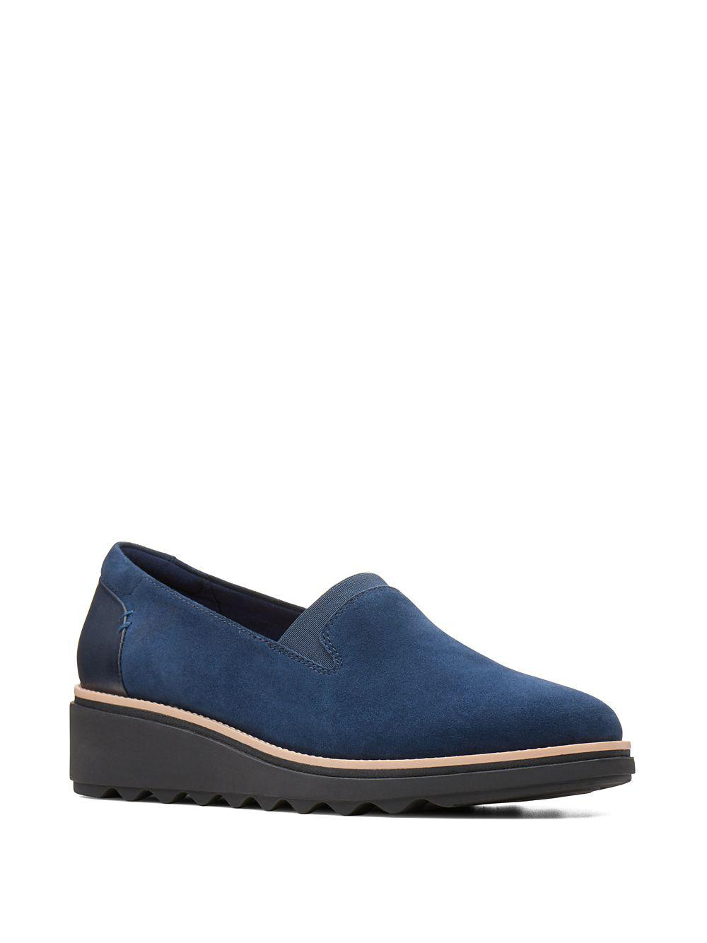 35868c6538d Lyst - Clarks Sharon Dolly Suede Loafers in Blue