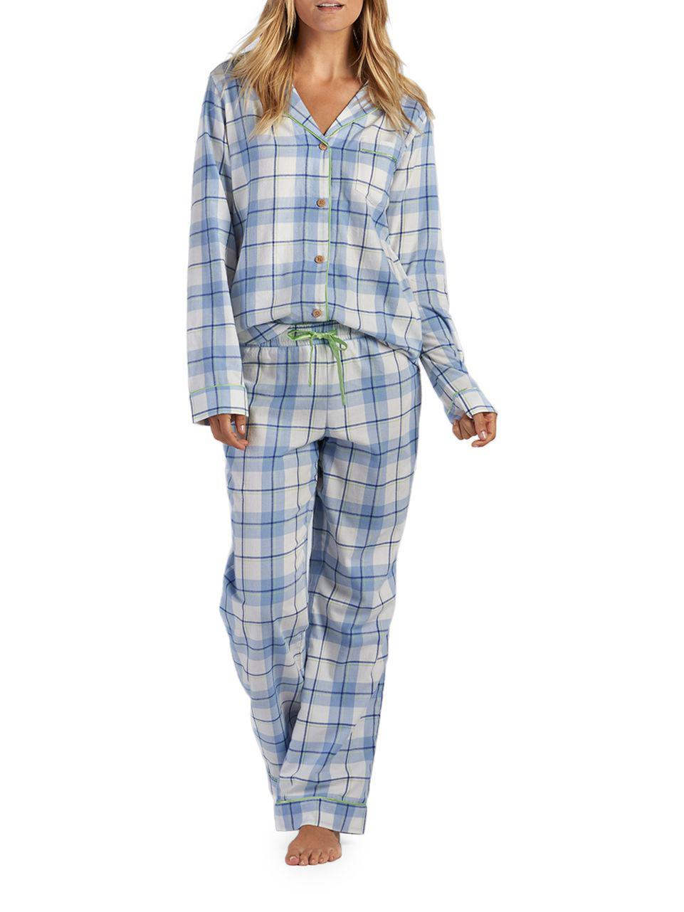 59dc7ec413 Lyst - Ugg Raven Plaid Two-piece Pajama Pants   Shirt Set in Blue