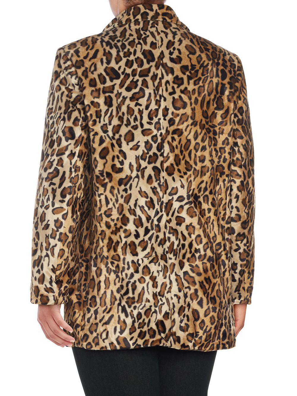 290ac659783d Lord & Taylor - Brown Plus Faux Fur Leopard Printed Jacket - Lyst. View  fullscreen