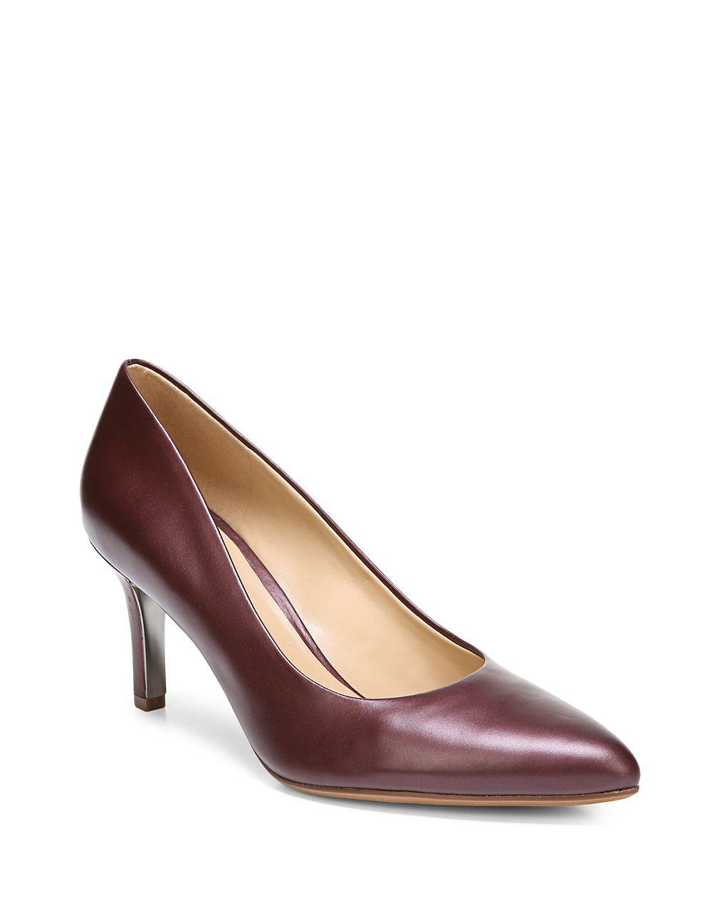 759a049ae519 Lyst - Naturalizer Natalie Leather Pumps in Brown