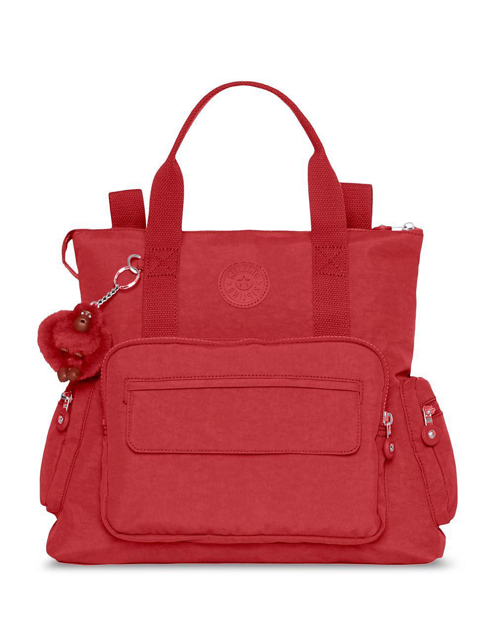 Lyst Kipling Alvy Convertible Handbag In Red