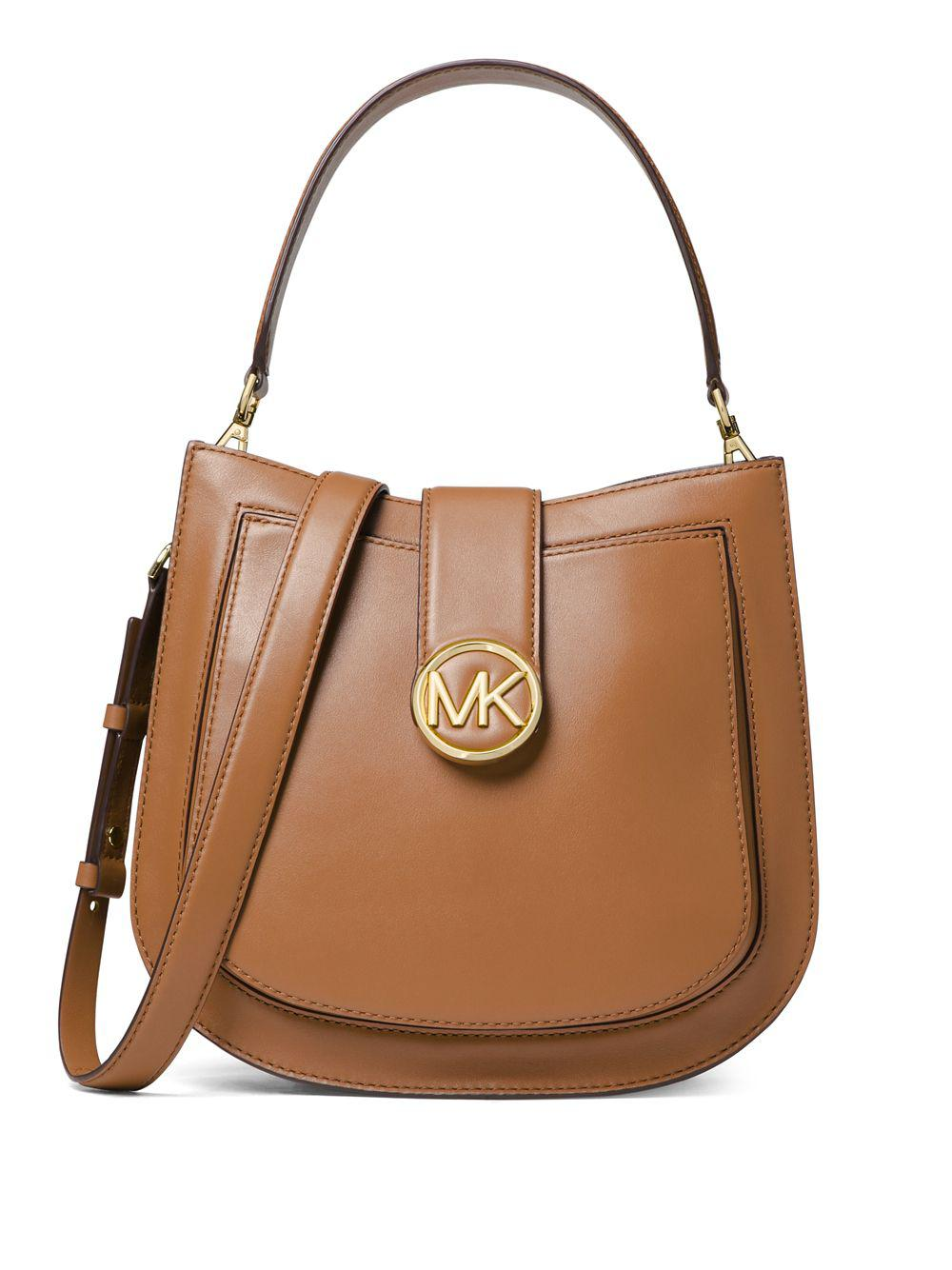 28bf58d4508d Michael Michael Kors Lillie Leather Hobo Bag in Brown - Lyst