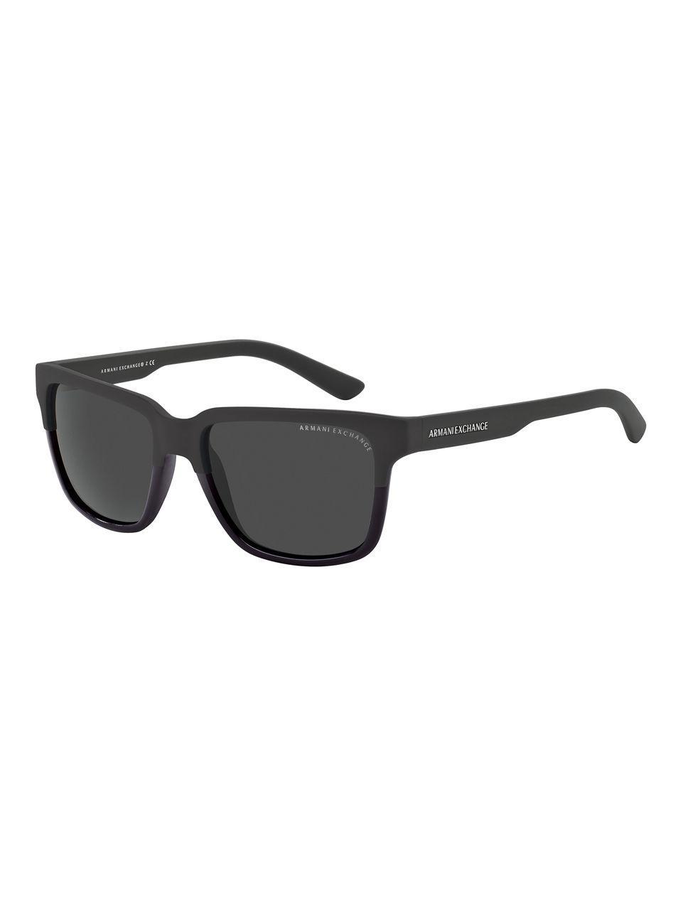 248e08064cb Armani Exchange Wayfarer Sunglasses in Black for Men - Lyst