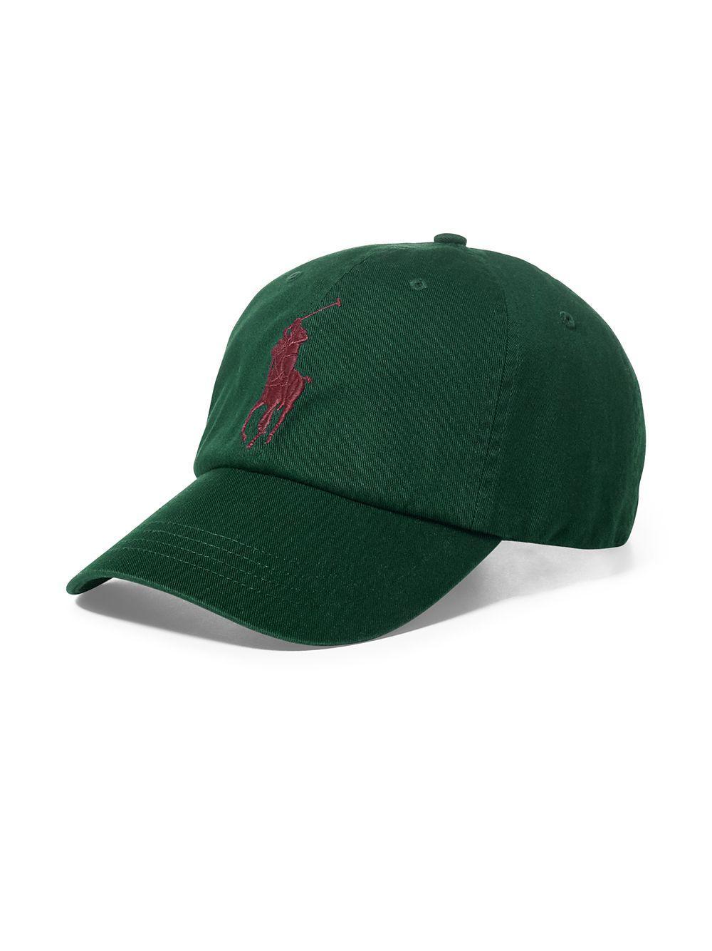 f2dbd55820653 Polo Ralph Lauren Logo Cotton Baseball Cap in Green for Men - Lyst
