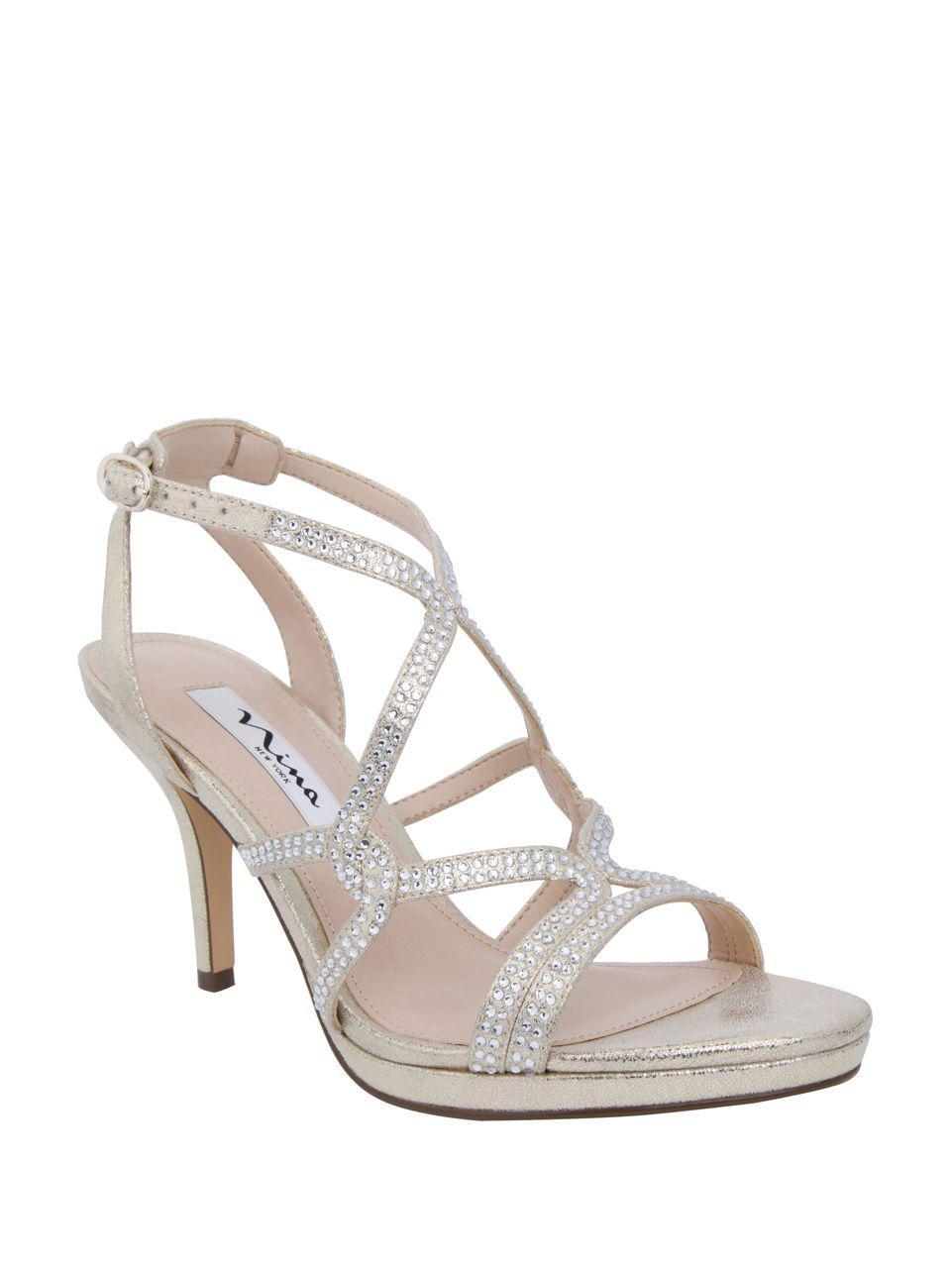 1f227311cd7 Lyst - Nina Varsha Metallic Sandals in Metallic