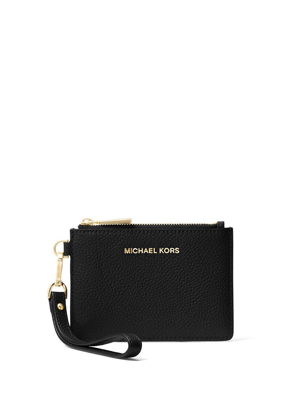 f6cc78b606e2 Michael Michael Kors Mercer Leather Coin Purse in Black - Lyst