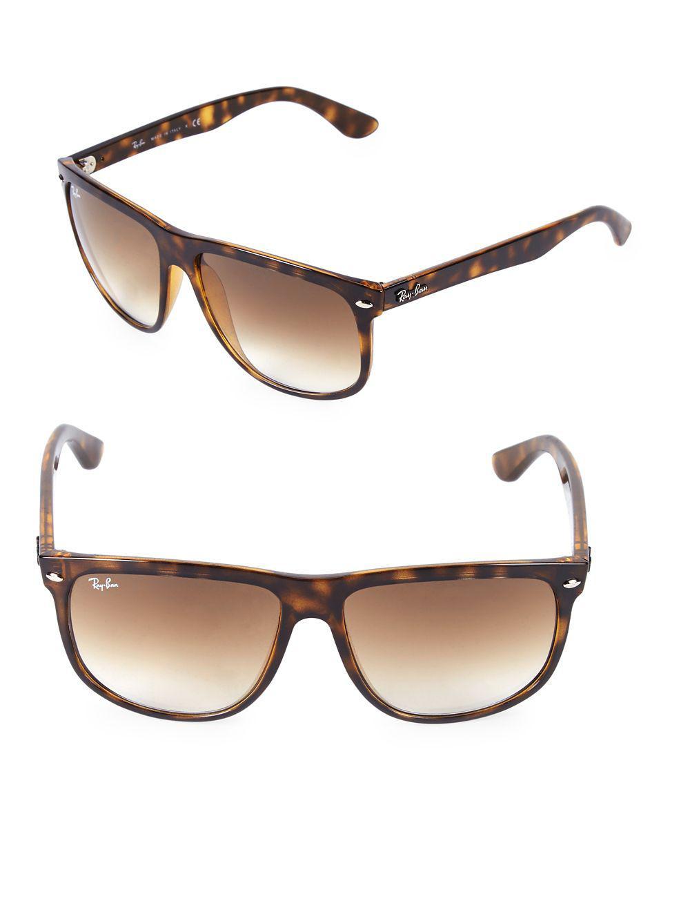 5b1b5709170 Lyst - Ray-Ban Flat Top Boyfriend Wayfarer Sunglasses in Brown for Men