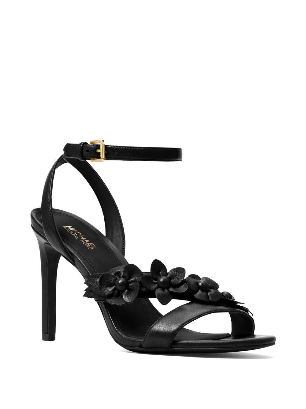d45686a41f09 Michael Michael Kors Tricia Stiletto Sandals in Black - Lyst