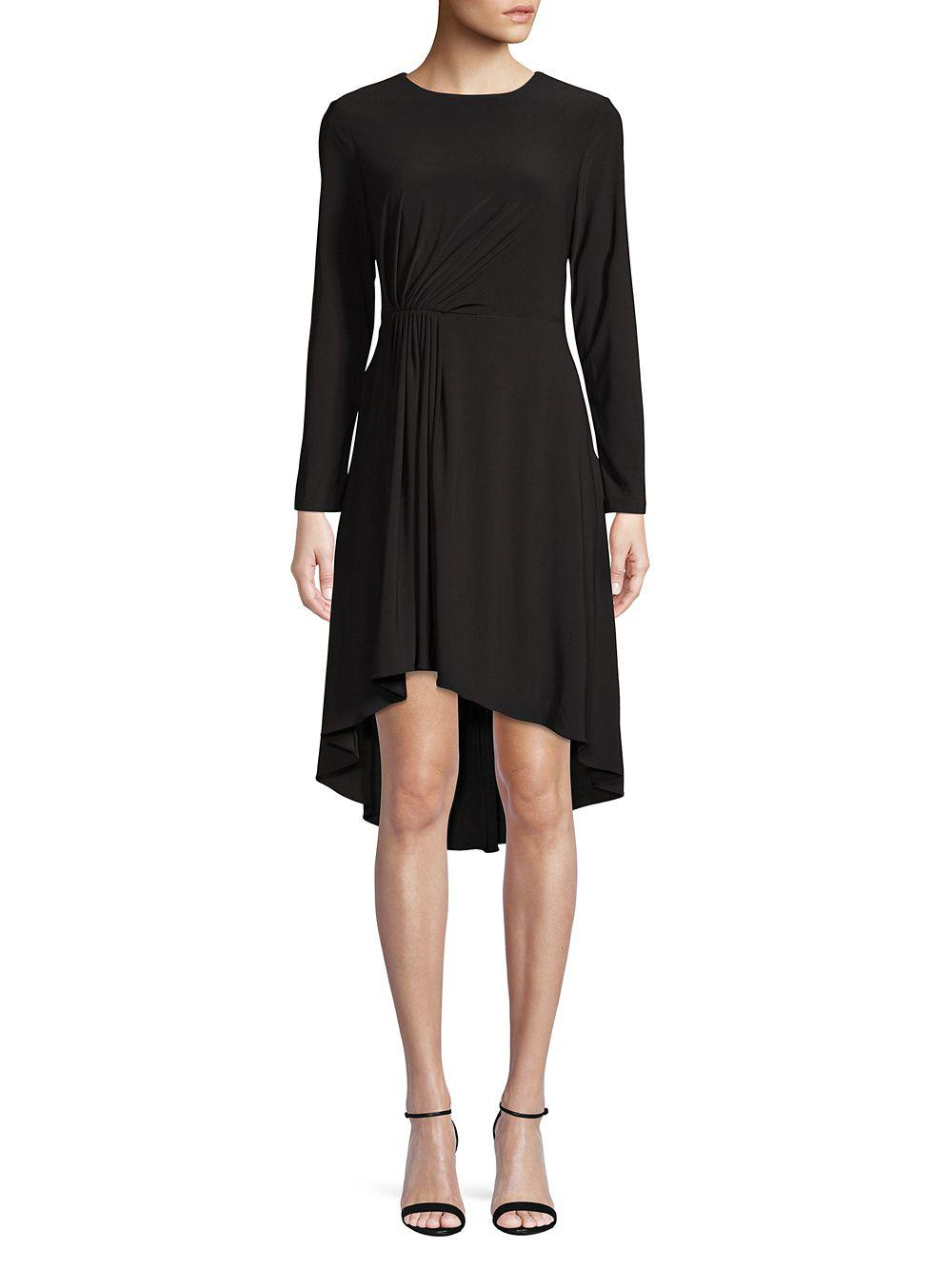 341bce08 Lyst - Adrianna Papell Long-sleeve Fit-&-flare Dress in Black