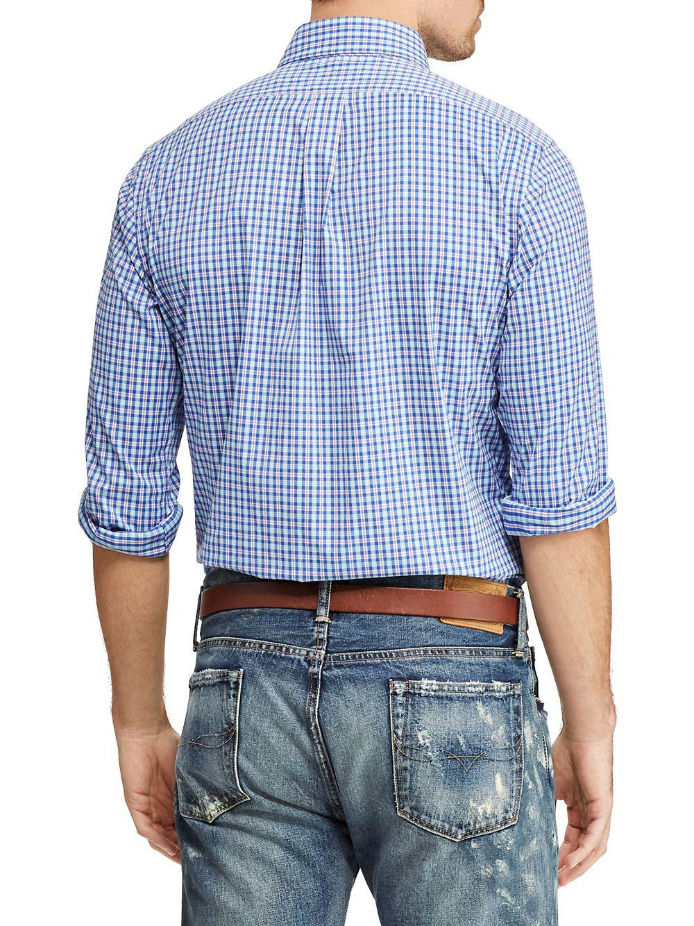 38a11ac2 Polo Ralph Lauren Classic-fit Oxford Button-down Shirt in Blue for Men -  Lyst