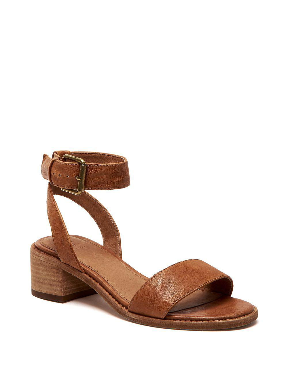 7a92396e204 Frye Cindy Ankle Strap Sandals in Brown - Save 57.48299319727891% - Lyst
