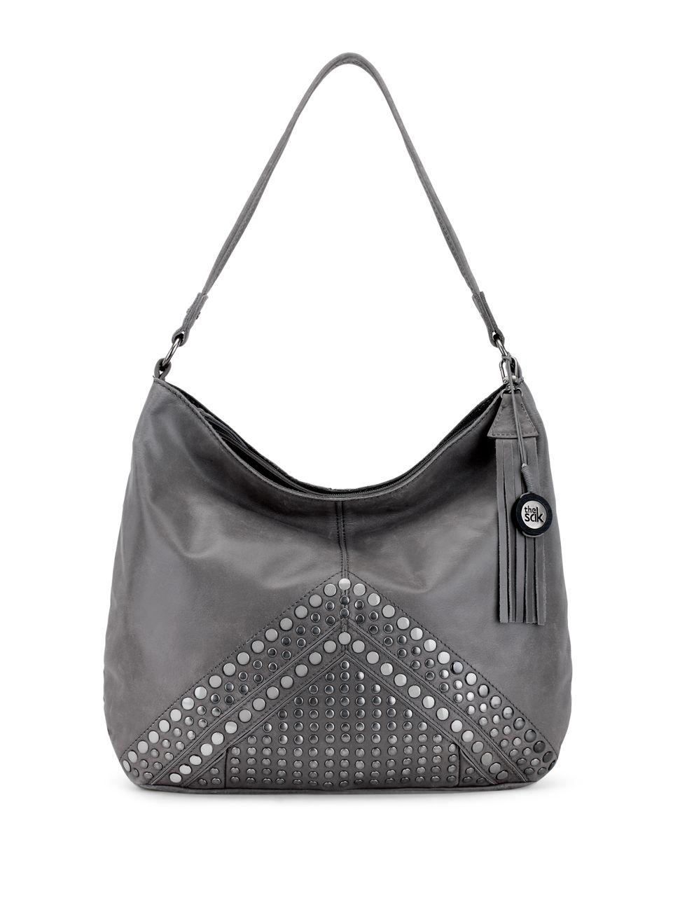 82a7083582e0 The Sak Indio Leather Hobo Bag in Gray - Lyst