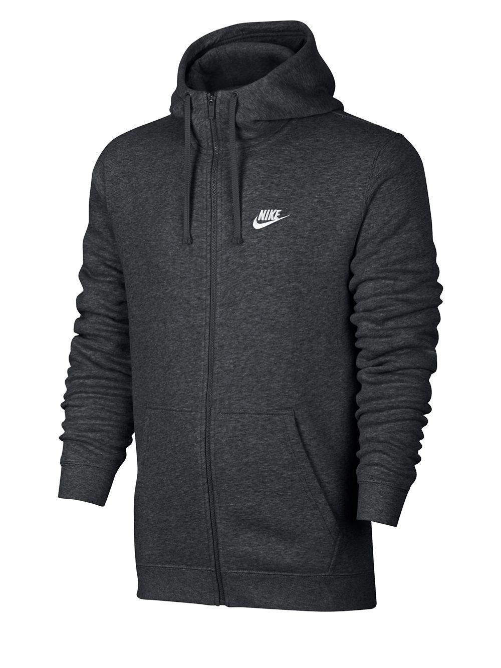 99f26636c4 Nike Embroidered Logo Hoodie in Gray for Men - Lyst