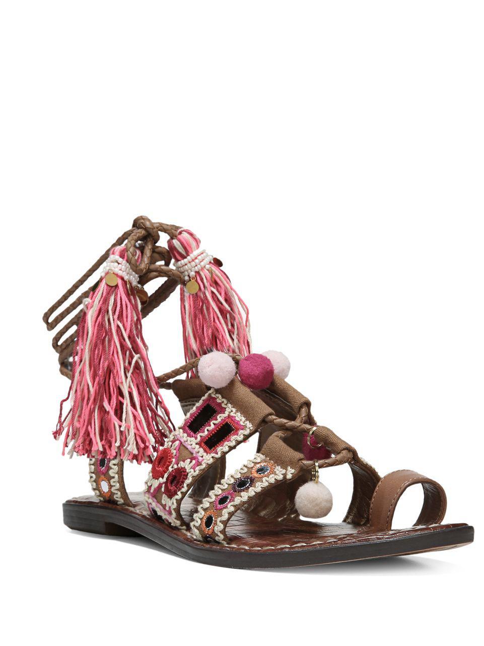 8ae2fc01ffa Lyst - Sam Edelman Gretchen Leather-blend Sandals