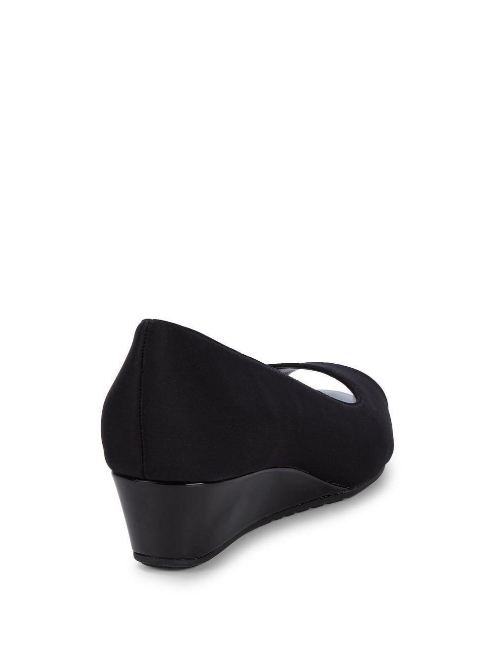 74419dedc418 Bandolino - Black Candra Peep-toe Demi-wedge Pumps - Lyst. View fullscreen