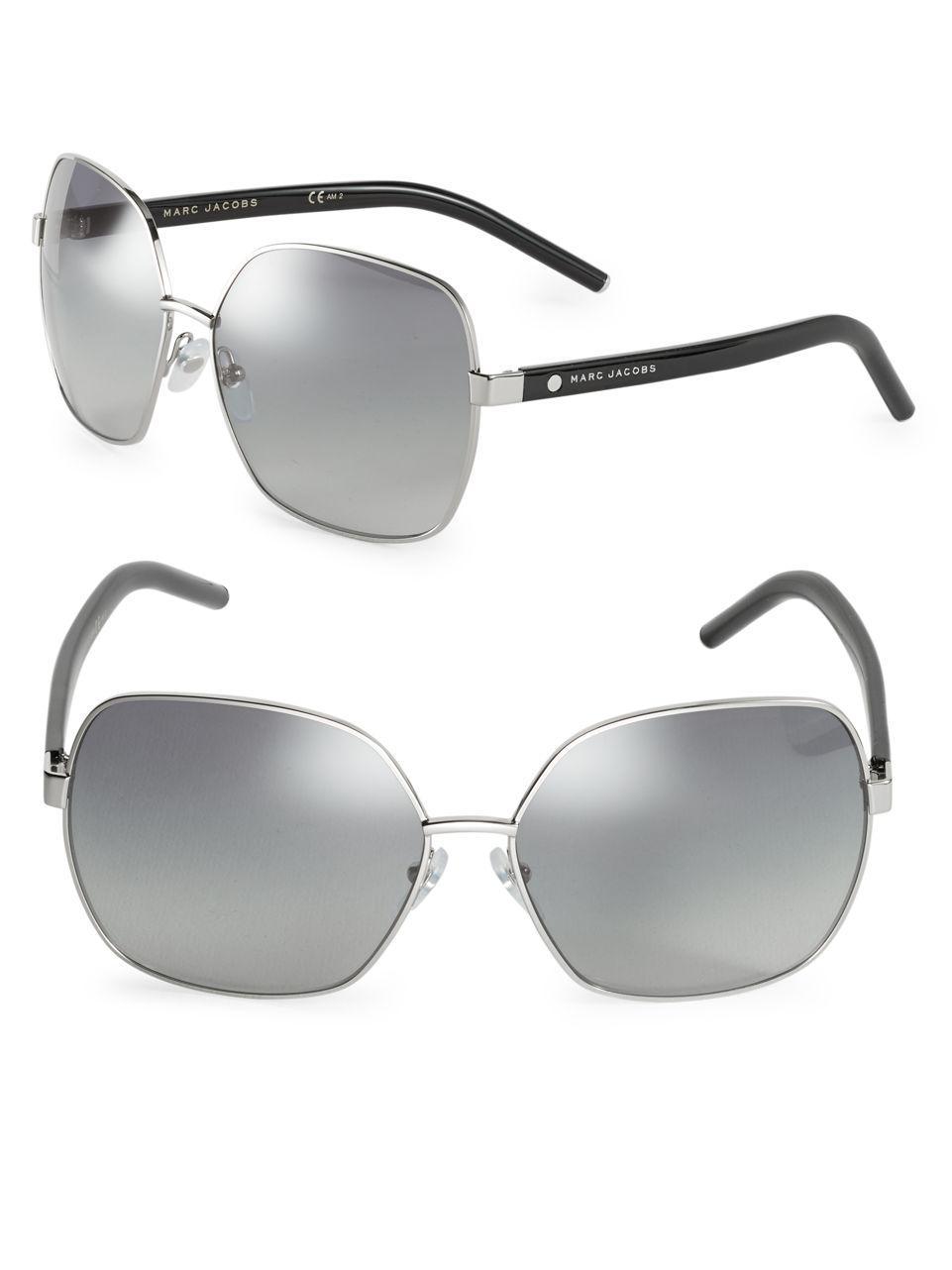 109c329bff1 Marc Jacobs - Metallic 61mm Square Sunglasses - Lyst. View fullscreen