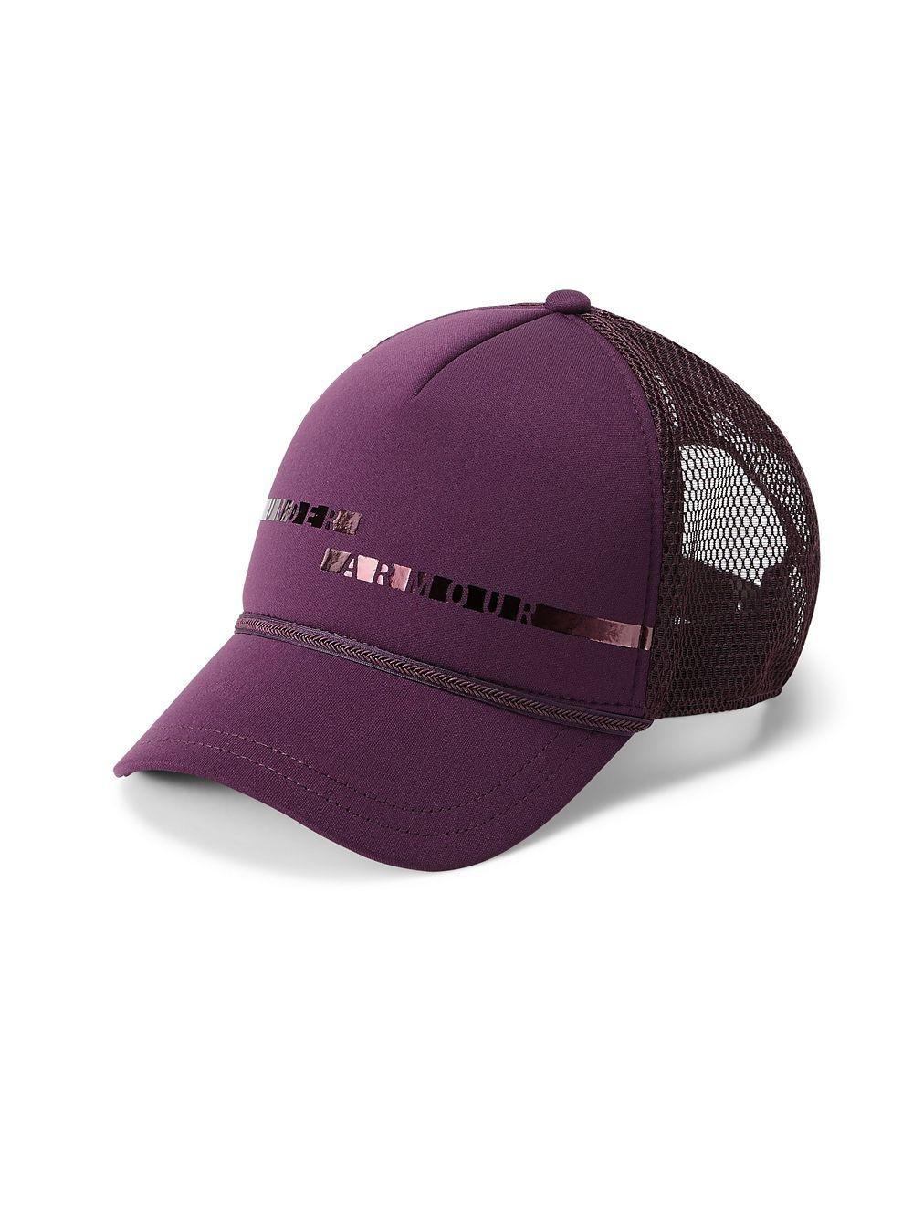 d3911ad94dd Lyst - Under Armour Graphic Trucker Cap in Purple for Men