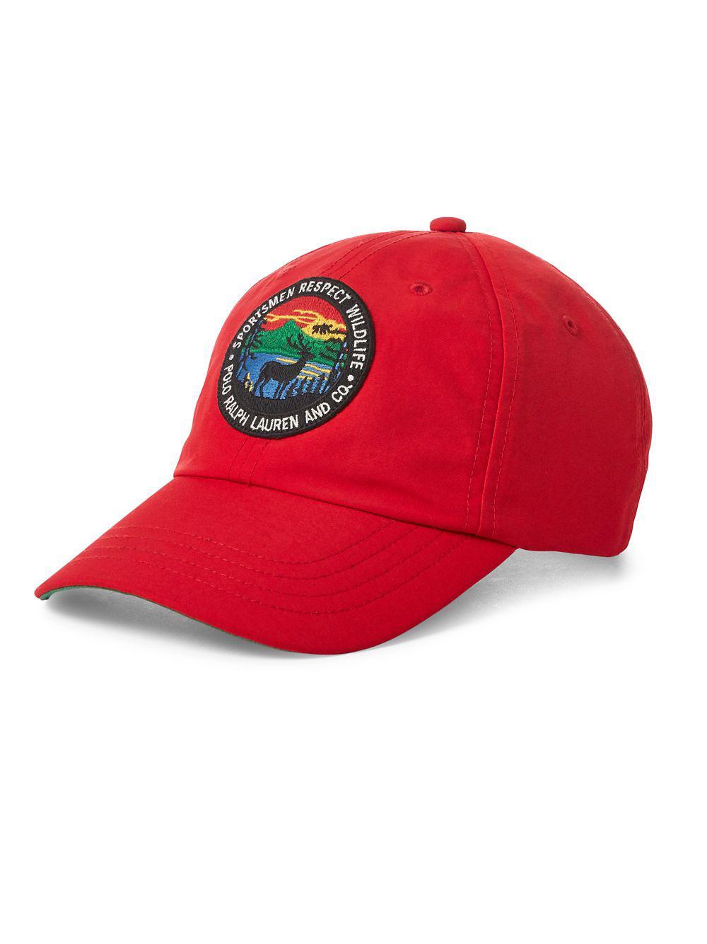 Polo Ralph Lauren Sportsman s Baseball Cap in Red for Men - Lyst c586acb5996e