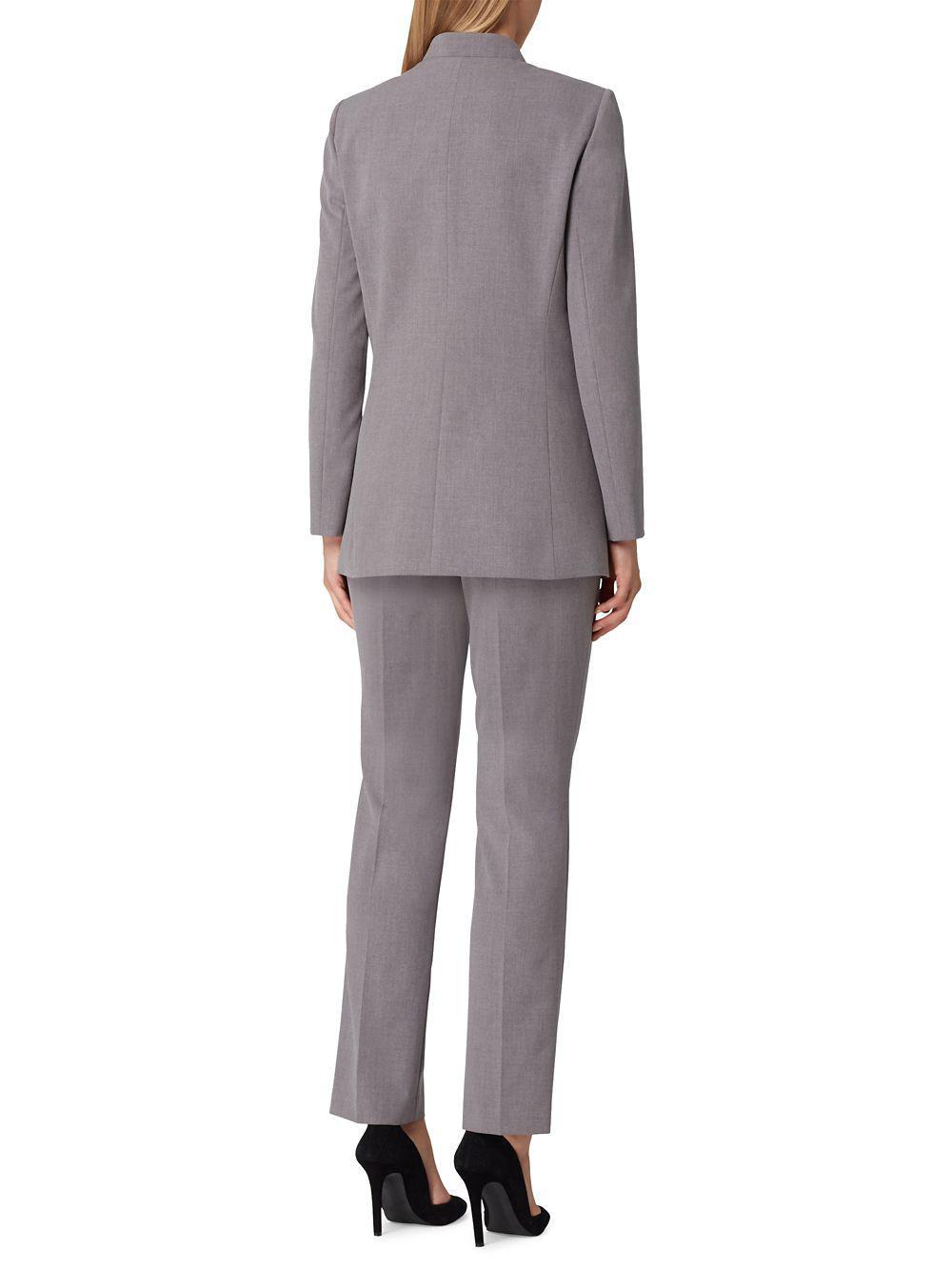304f74976f654 Tahari - Gray Double Starneck Pant Suit - Lyst. View fullscreen