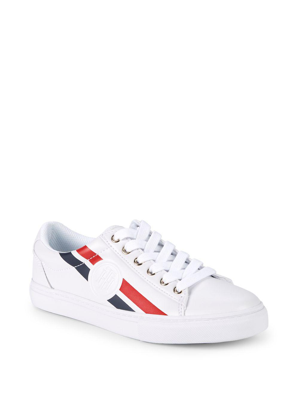 233ab08cd0e5de Lyst - Tommy Hilfiger Lindee Low-top Sneakers in White