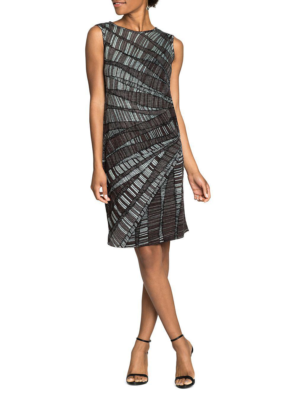 c91fa98ba99 Lyst - Nic+Zoe Twilight Sleeveless Shift Dress in Gray