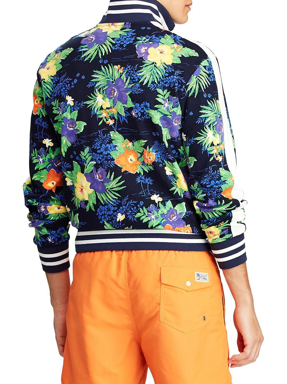 e84b53df Polo Ralph Lauren Printed Cotton Track Jacket in Blue for Men - Save 36% -  Lyst