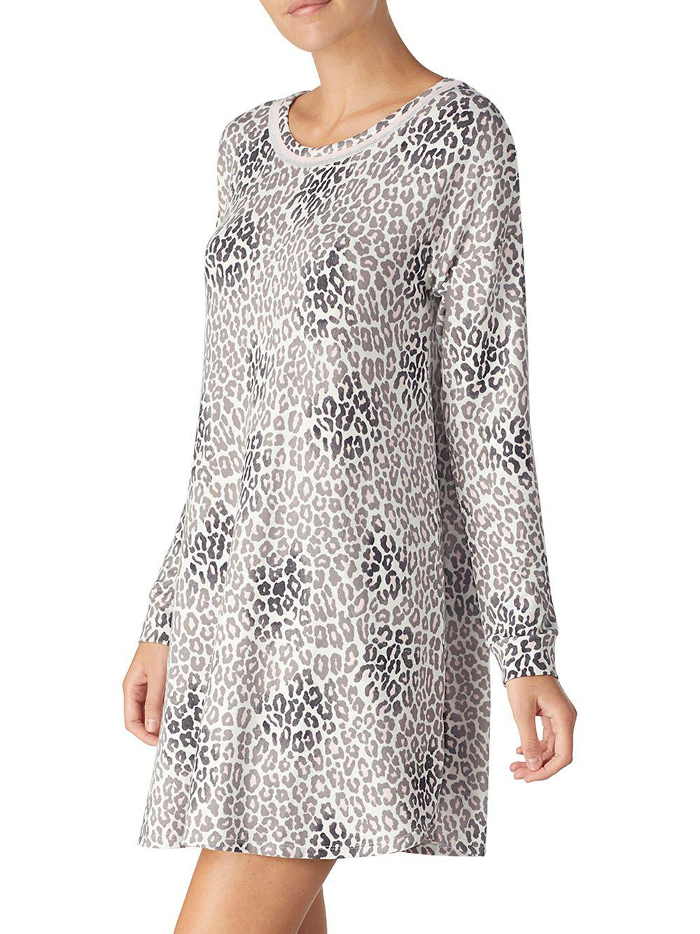 Kensie - Gray Animal Print Jersey Sleepshirt - Lyst. View fullscreen ef7403bfb