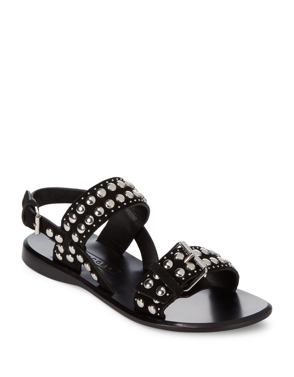 Marc Jacobs Tawny Flat Studded Leather Sandal iNtiWy