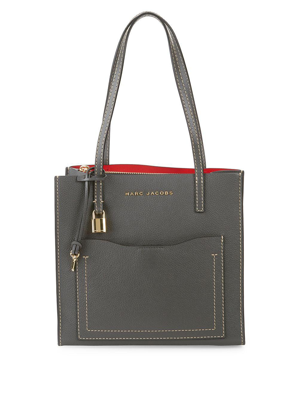 bfb76892486f Lyst - Marc Jacobs Peony Medium Leather Tote in Black
