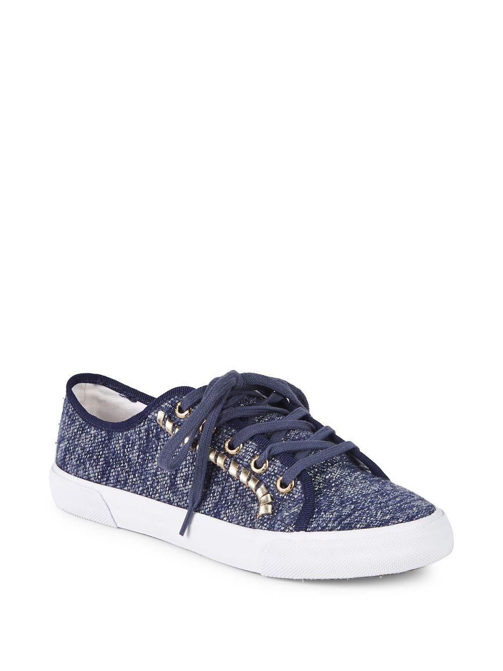 97502626083796 Lyst - Jack Rogers Carter Sparkle Fabric Sneakers in Blue