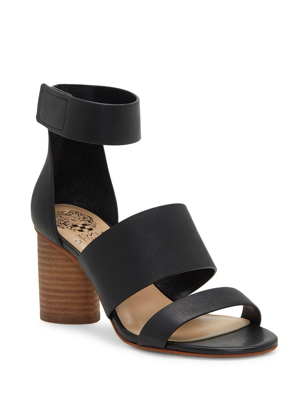 Vince Camuto Junette Leather Block Heel Sandals 6GFV4NNDF4