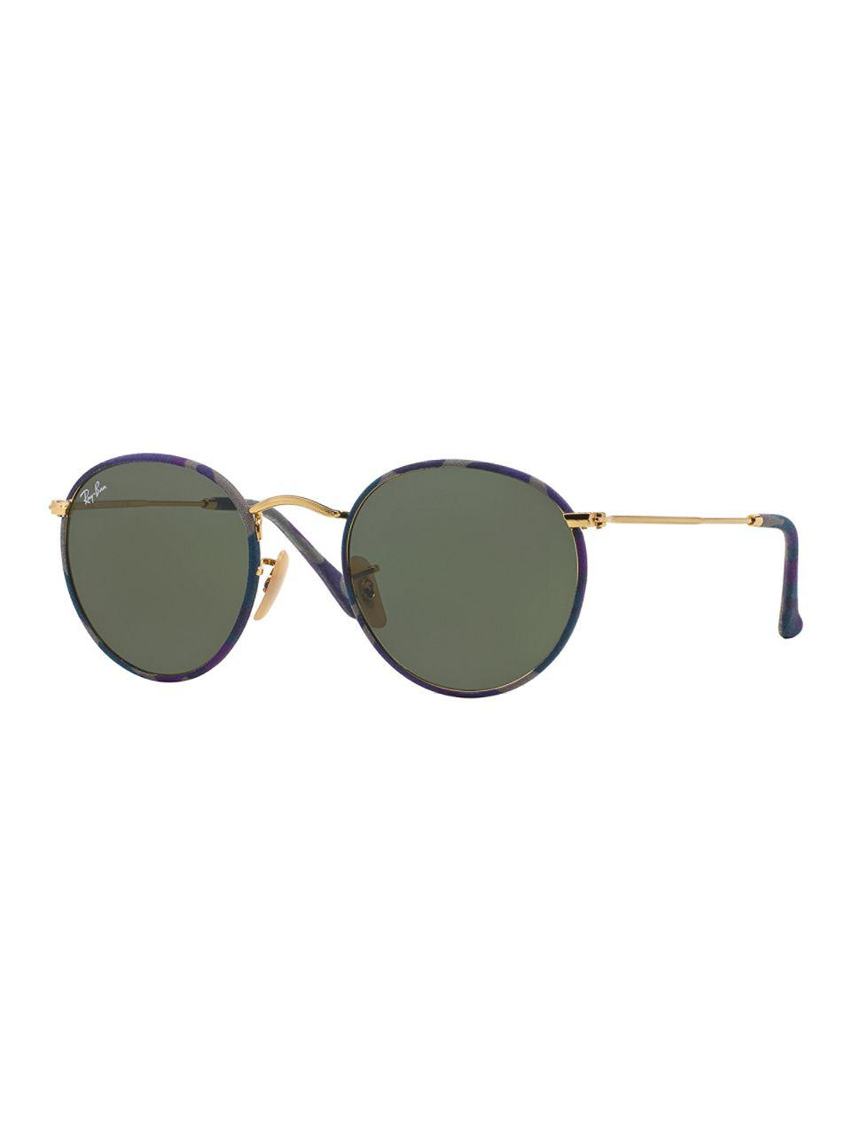 4c842ff75a Lyst - Ray-Ban 50mm Round Camouflage Sunglasses in Purple