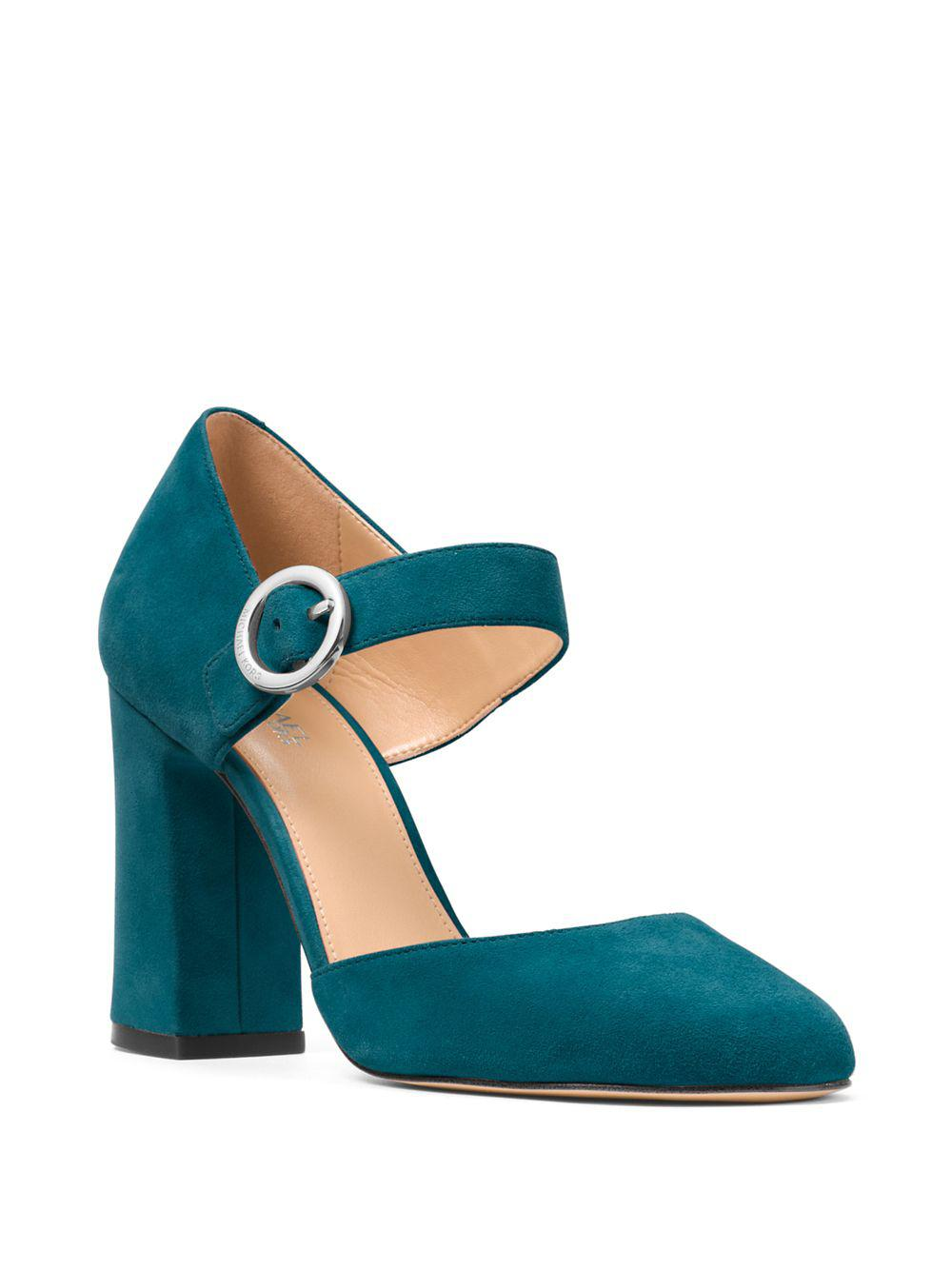 708c614d4f63 Lyst - Michael Michael Kors Alana Suede Mary Jane Pumps in Blue