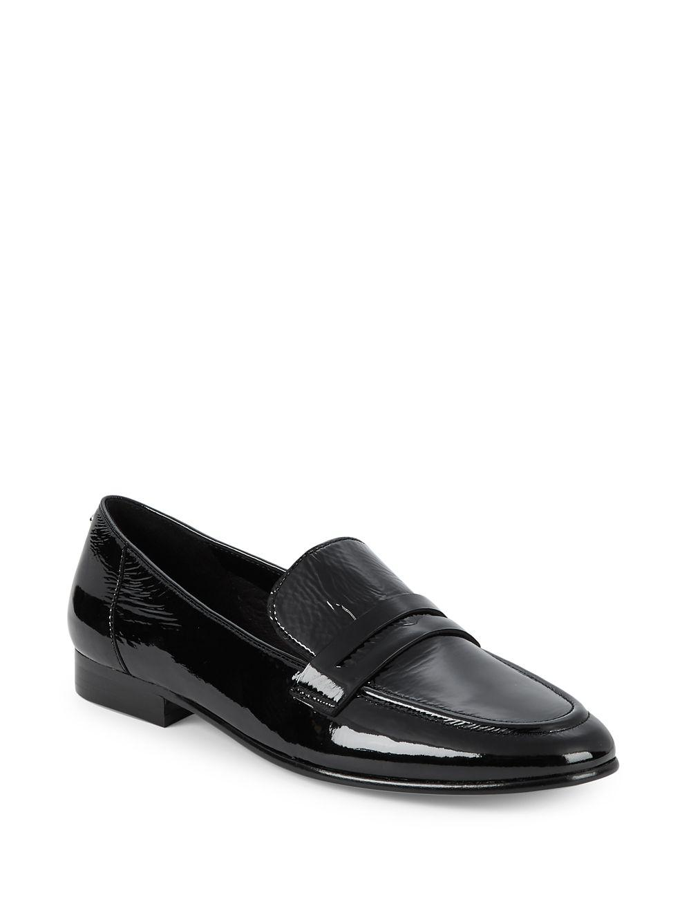 f94001b4414 Lyst - Kate Spade Genevieve Patent Leather Loafers in Black
