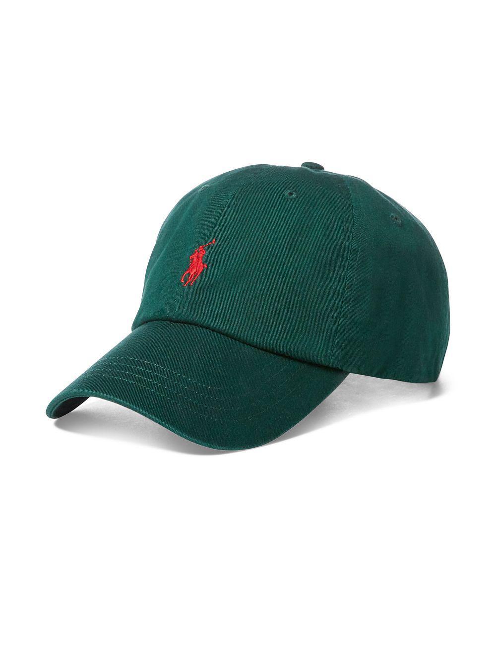 55111e77 Polo Ralph Lauren Cotton Chino Baseball Cap in Green for Men - Lyst