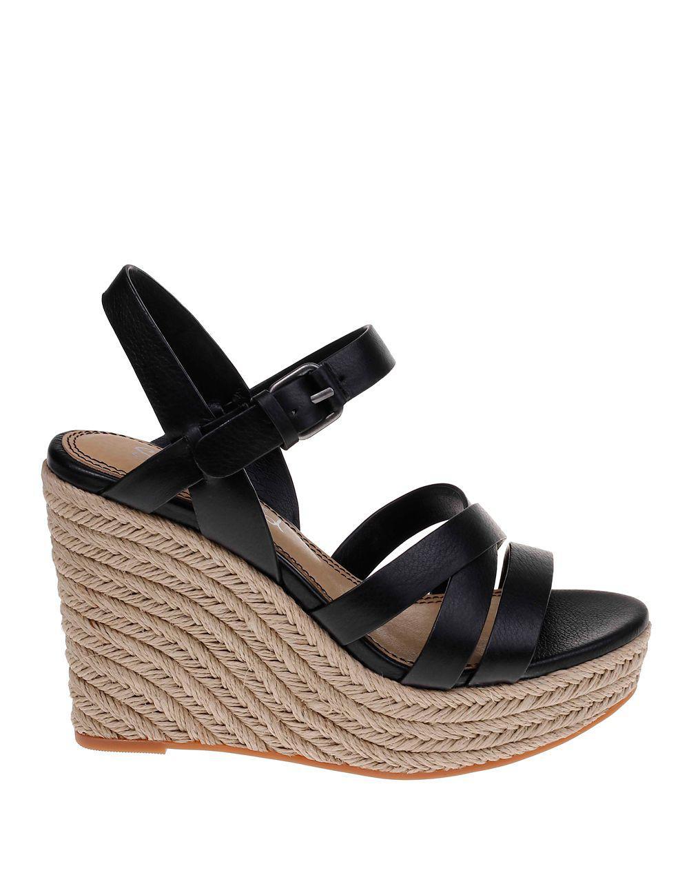 Billie Elastic Rhinestone Detailed Wedge Sandals 0Q5GOaUa