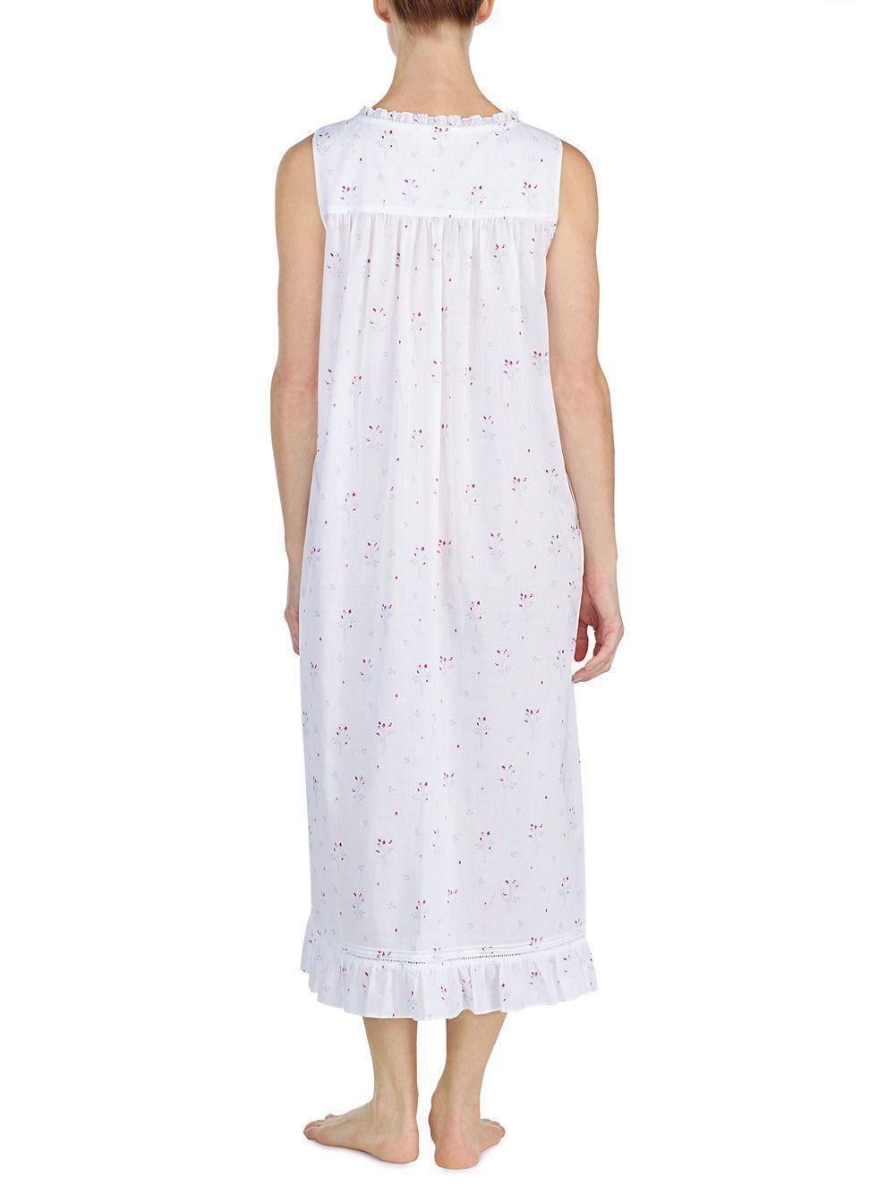 fab214c70d Eileen West - White Sleeveless Ballet Nightgown - Lyst. View fullscreen