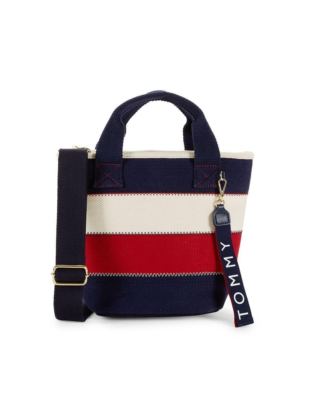 a9fb10856f6 Lyst - Tommy Hilfiger Vivian Cotton Crossbody Bag in Blue