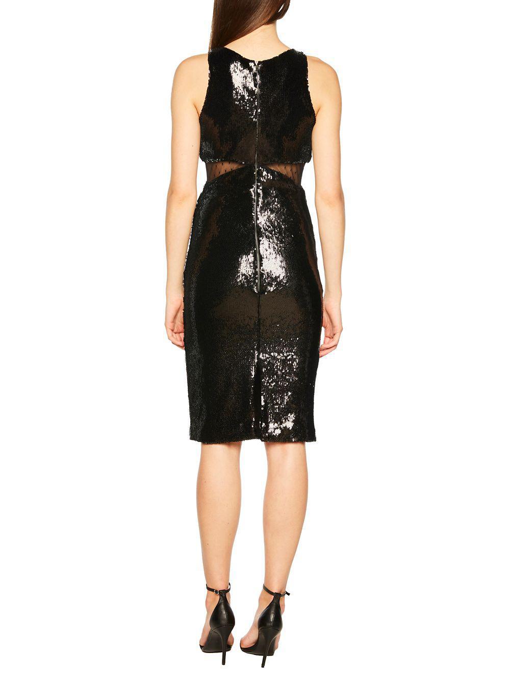 442693acd0e Bardot Splice Sequin Sheath Dress in Black - Lyst