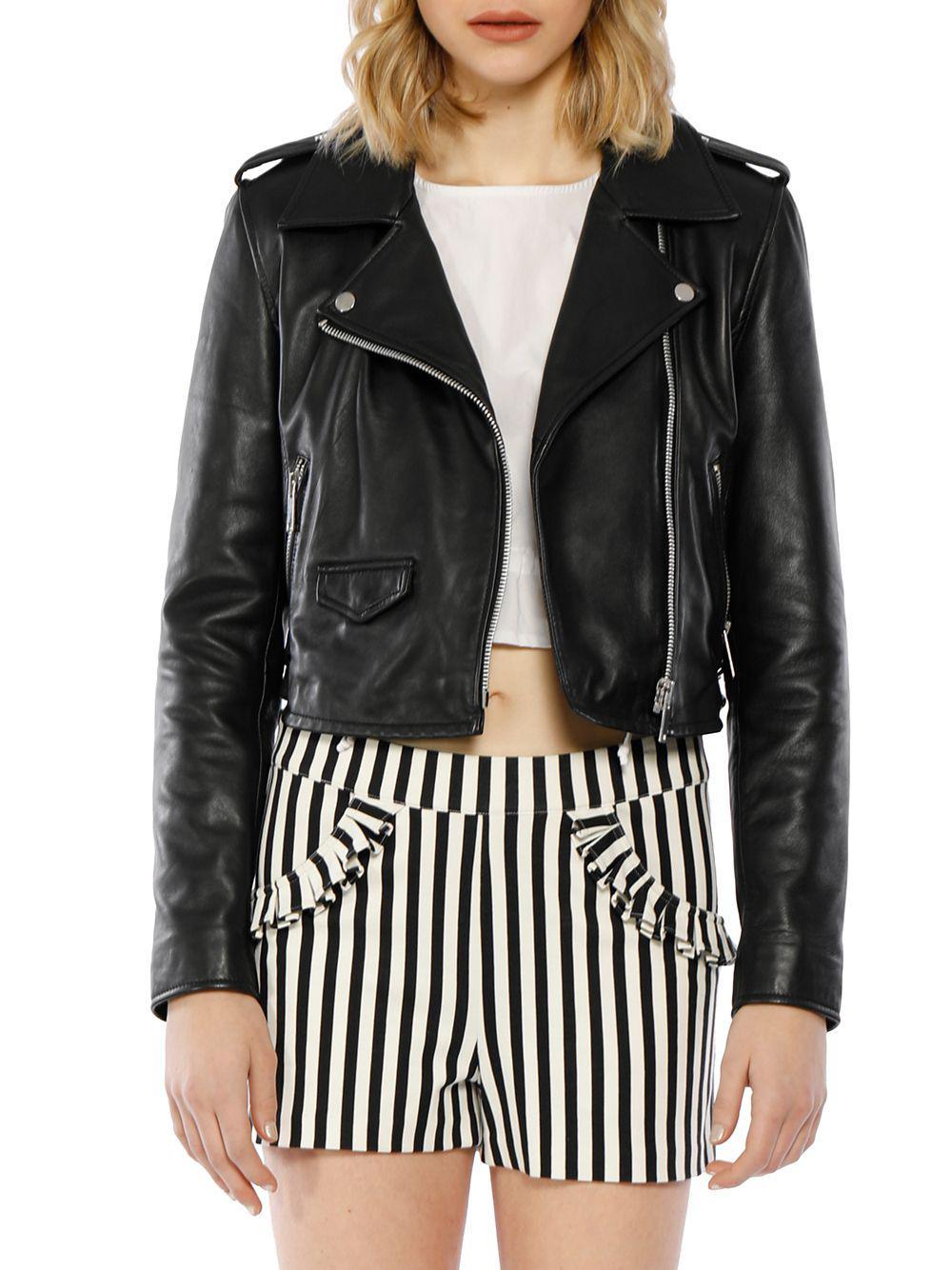 1eecc8787d242 Walter Baker Liz Leather Moto Jacket in Black - Lyst