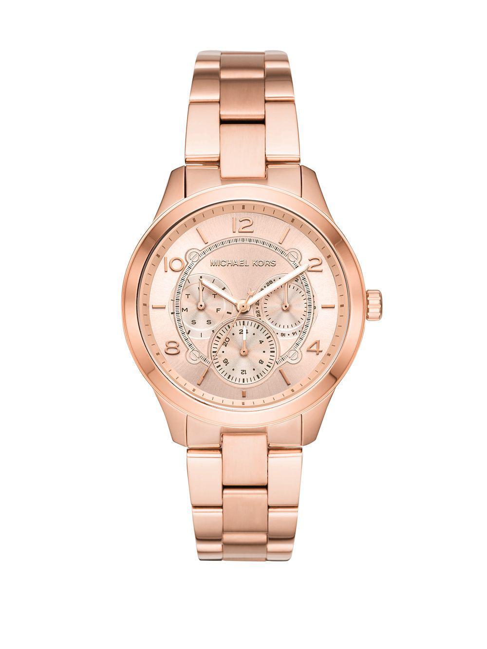 e0ad48081e50 Michael Kors - Multicolor Runway Stainless Steel Chronograph Bracelet Watch  - Lyst. View fullscreen
